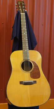 Believe it or not, this beautiful Martin was run over by a truck. The top and back were shattered, braces were broken and missing, one side was a complete loss. Looks pretty good now!